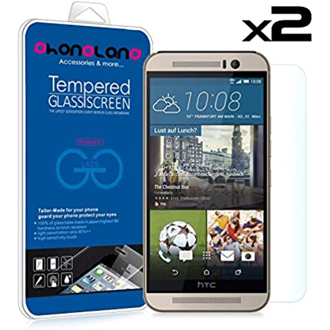 PACK 2 UNIDS - 2 x Film Protector pantalla de cristal templado Premium para HTC Desire 530 / 626