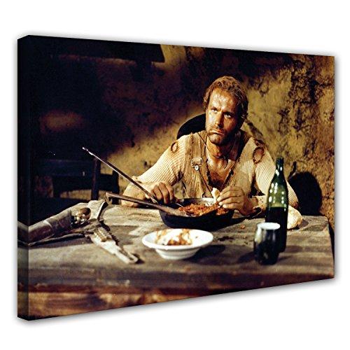 Terence Hill Bud Spencer - Der müde Joe - Bohnen - Die rechte und die linke Hand des Teufels - Leinwand (80 x 60 cm)