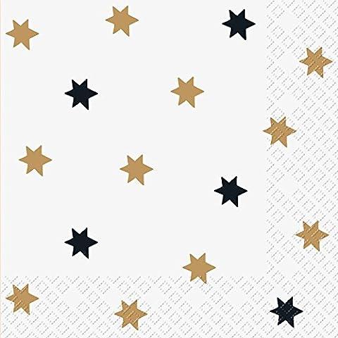 Stewo Imprimé Serviette en papier, 3plis lumi étoiles design