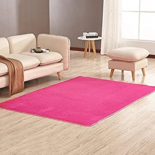 YHLCSQ soft Indoor Modern Anti-Skid Shaggy Rug Carpet mat for dining room home Bedroom Livingroom Sitting-room Footcloth-Decorate (120×160cm(47.2