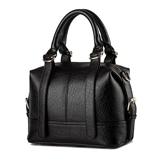 koson-man-damen-grtel-sling-tote-taschen-top-griff-handtasche-schwarz-schwarz-kmukhb209