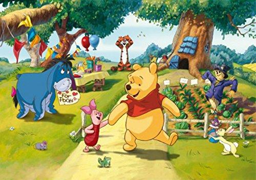 1art1 78071 Winnie Puuh Der Bär - Iaah, Rabbit, Ferkel Und Tigger, Eine Party Für Pooh Fototapete Poster-Tapete 255 x 180 cm (Winnie The Pooh Sammler)