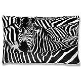 Bestlivings Kissenbezug mit Fotodruck ca. 40x60cm, Flauschig weich, in weiteren Motiven verfügbar (Design: Zebra)