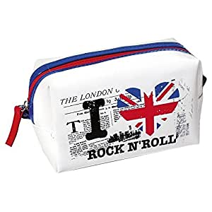 Pochette Trousse Rectangulaire London I LOVE ROCK N'ROLL