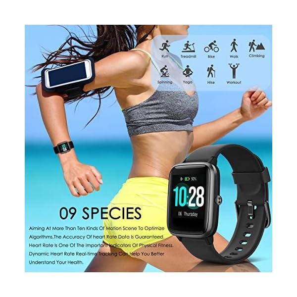 HOMVILLA Smartwatch Fitness Tracker Reloj Inteligente Impermeable IP68 Fitness con Monitor de Ritmo Cardíaco Podómetro Monitor de Sueño Cronómetro Temporizador para Hombres Mujeres iPhone Android rosado 7