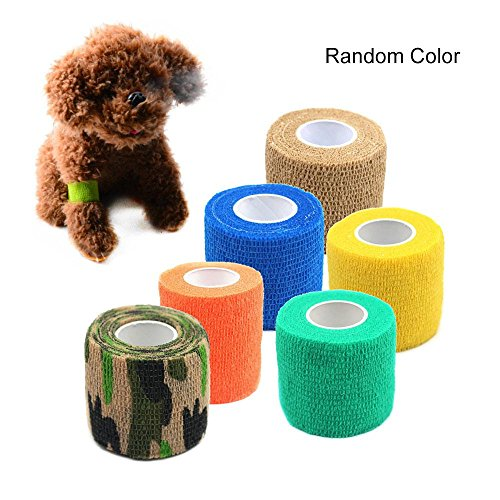 Pawaca Pet Bandagen, Selbstklebende Wrap Bandage Elastische starke elastische medizinische Sport Haustier liefert elastischen Stretch-Gürtel (Pet-wrap)