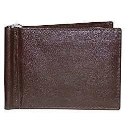 Style98 Brown Leather Unisex Slim Money Clip Wallet||Small Wallet