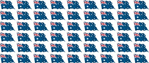 Mini Fahnen - Flaggen Set wehend - Pack wehend - 20x12mm - Aufkleber - Australien - Sticker fürs Büro, Schule und zu Hause - 54 Stück