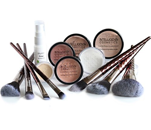 Affection Minerals 13 piece Set Sheer Finish Mineral Makeup Foundation Natural Flawless Coverage ()