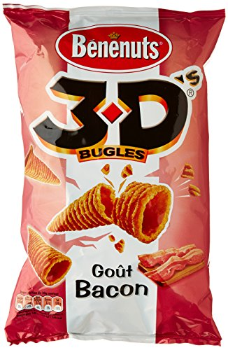 Benenuts Bugles 3D'S goût Bacon 85 g - Lot de 3