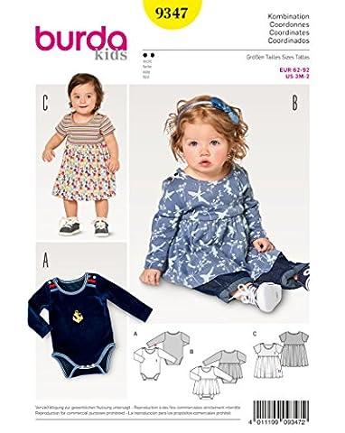 Burda 9347 Schnittmuster Kleid mit Body (Baby, Gr. 62 ?