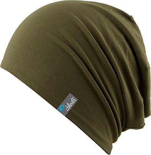 Chillouts, lange Beanie-Acapulco-Mütze für Erwachsene Einheitsgröße Olive Green -...