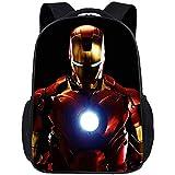 HEIMA Ironman Backpack,3D Movie Print Children School Book Bag Kids Printing Backpacks