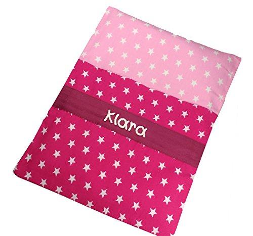 Sterne Wärmekissen pink mit Namen, Körnerkissen, Nikolaus Geschenke, Geschenkideen Weihnachten