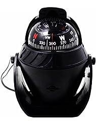 Fozela LED Navigation Boussole, Compact Illuminé Mer Marine Compas / Voiture Numérique Boussole