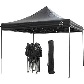 All Seasons Gazebos 3x3m Waterproof Pop Up Gazebo - Black (Leg Weights)