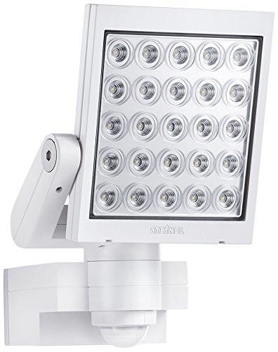 Steinel Strahler mit Bewegungsmelder inklusive eingebauten 62 W LED, IP44, 30 x 20 x 22 cm, weiß XLED25WEISS
