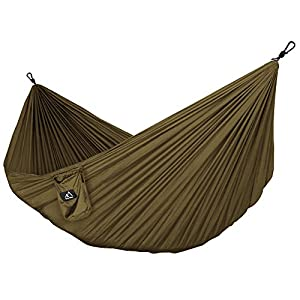 51Vh9JwWUmL. SS300  - Terra Hiker Camping Hammock, Lightweight Hammock, with Hammock Straps and Steel Carabiners, Portable Hammock for Backpacking, Travel, Beach, Yard