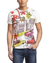 Desigual - autopista - t-shirt - imprimé - homme
