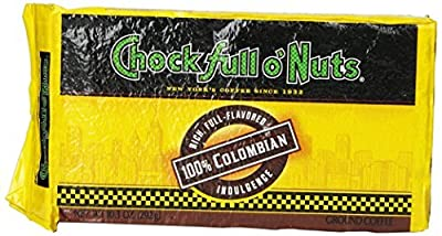 Chock Full O Nuts 100% Colombian Ground Coffee Brick Pack 292g by Chock Full o' Nuts
