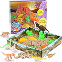 Play Sand Set Includes 1 lbs of Natural Indoor Play Sand Dinosaur Sand Molding Set for Children