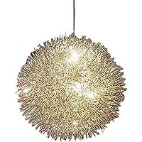 WQW Pendelleuchte Einfache Moderne Led Aluminium Draht Kugel Deckenleuchten  Handgewebte Romantische Dekoration Pendelleuchte Wohnzimmer Design Leuchte