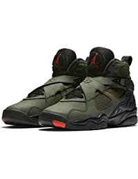 Nike - Air Jordan Viii Retro BG - 305368305 - Color: Verde-Negro - Size: 36.5