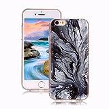 Yunbaoz Funda Compatible para iPhone 6S Mármol, iPhone 6 Case Diseño Mármol Carcasa Suave Goma Silicona Soft Marble Case Suitable for Textura de Piedra Natural - Patrón de árbol