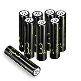 AAA Pilas Recargables, Coolreall 1,2V 1100 mAh Baterías Recargables NiMH, Baja Autodescarga y Alta...