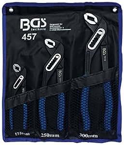 BGS 457 Jeu de pinces multiprise, Noir/bleu, Set de 3 Pièces