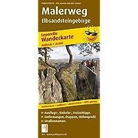 Malerweg Elbsandsteingebirge: Leporello Wanderkarte mit Ausflugszielen, Einkehr- & Freizeittipps, wetterfest, reissfest…