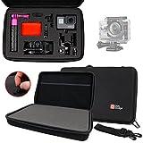 Mallette de rangement DURAGADGET personnalisable rigide pour VTIN Caméscope Sportive UHD avec Capteur Sony IMX117 Exmor R Caméra d'Action
