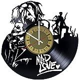 Gifts Guru Harley Quinn and The Joker - Reloj de Pared de Vinilo, diseño con