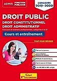 Droit public - Concours 2019-2020 - Fonction publique - Catégories A et B (Admis Fonction publique) - Format Kindle - 9782311207149 - 12,99 €