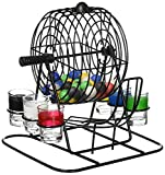 Kole Imports OD803 Bingo Drinking Game with Cage & Shot Glasses