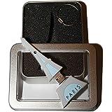 Souvenir Paris | Geschenkidee: USB-Stick mit Schlüsselanhänger Form Tour Eiffel (Eiffelturm) für Frauen u. Männer | Memory Stick 2 GB | CultourStix