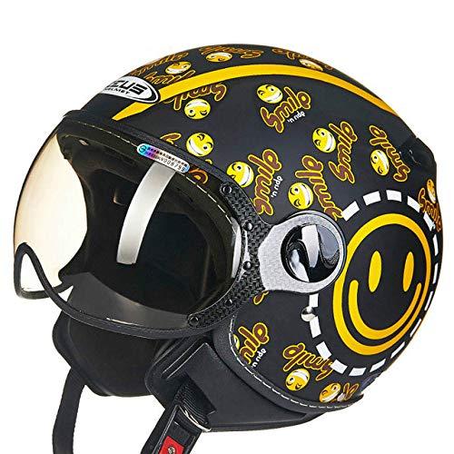 Casco moto Retro Vintage Motocicleta Half Face Helmet