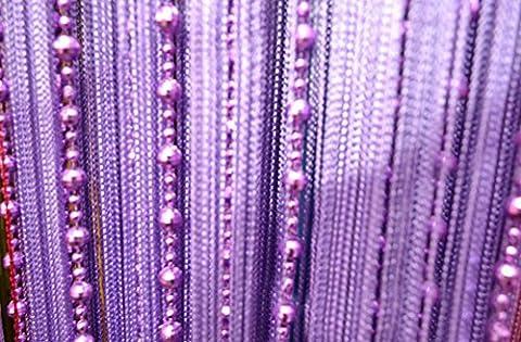 yiyida Globe perles rideau moustiquaire Store avec diviseur de porte Cordes Rideaux 1m Largeur 2m rideaux un panneau