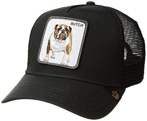 Gorra trucker negra perro bulldog Butch de Goorin Bros. - Negro, Talla única
