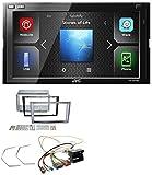 JVC KW-M540BT Bluetooth Aux 2DIN USB MP3 Autoradio für Opel Antara Astra H Zafira B Charcoal