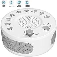 White Noise Sound Machine mit 9 natürlichen Sounds für besseren Schlaf, Non-Looping entspannende und beruhigende... preisvergleich bei billige-tabletten.eu