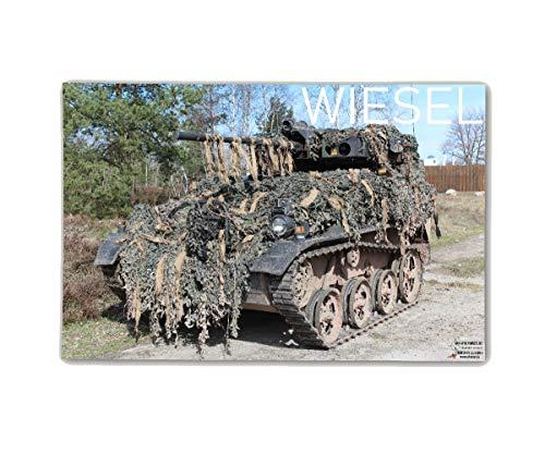 Copytec Poster M&N Pictures Wiesel Panzer Bundeswehr Plakat 1A1 MK 20mm ab30x20cm#30269, Farbe:Mehrfarbig, Poster Größen 8:42x28 cm 20 X 42 Satin