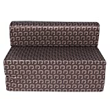 #9: UberLyfe Folding Sofa Cum Bed - Perfect For Guest Sofa Cum Bed with Washable Cover (36 x 72 x 8 inches) (SCB-001725-DKBR)