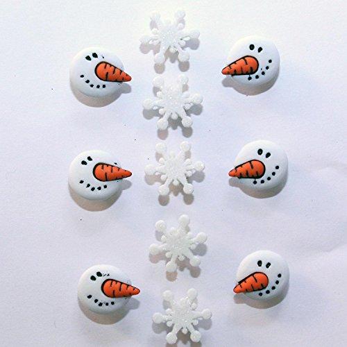 Pulsanti Dress It Up: Collezione Natale-pupazzo di neve-Snowman facce