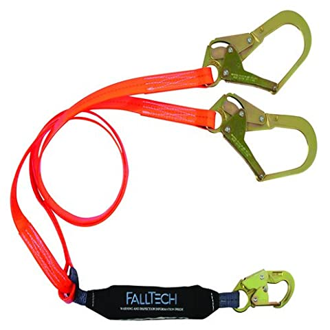 FallTech 826073pc ViewPack, Urethan beschichtet Web SAL–y-leg für 100% tie-off mit 1Karabinerhaken und 2, Mehrzweckmesser, Haken, 6', blau/schwarz