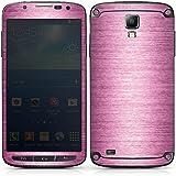 Samsung Galaxy S4 Active Case Skin Sticker aus Vinyl-Folie Aufkleber Metal Look - Pink Metall Rosa Pink