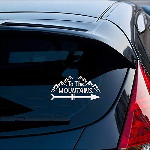 Autoaufkleber 15x7 Cm Zu Den Bergen Neuheit Lustige Wandern Auto Laptop Wohnmobil Auto Styling Aufkleber Aufkleber Für Auto Laptop Fenster Aufkleber