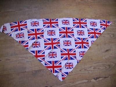 100% cotton Dog Bandana Union Jack flag design neck scarf
