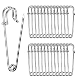 50pcs Safety Pins,Giant Strong Safety Pin Metal Heavy Duty Blanket Pins for Jewelry