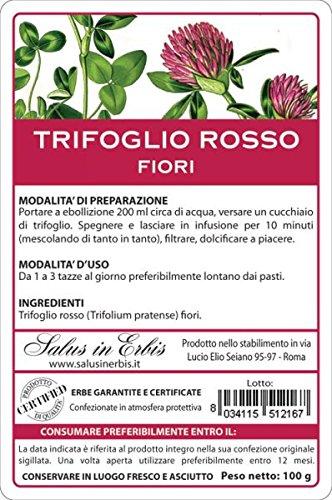 TRIFOGLIO ROSSO fiori 100 gr. Disturbi menopausa, vampate
